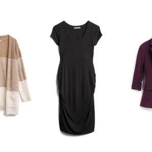 Greta Knit Ruched Maternity Dress
